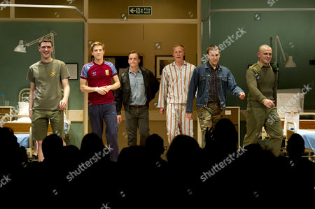 'Our Boys' Press Night at the Duchess Theatre and After Party at One Aldwych Curtain Call- Cian Barry Arthur Darvill Jolyon Coy Matthew Lewis Laurence Fox and Lewis Reeves