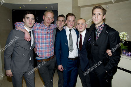 'Our Boys' Press Night at the Duchess Theatre and After Party at One Aldwych Cast - Cian Barry Laurence Fox Matthew Lewis Arthur Darvill Lewis Reeves and Jolyon Coy