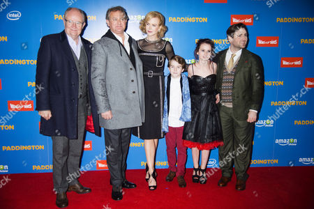 'Paddington' World Premiere at the Odeon Leicester Square Jim Broadbent Hugh Bonneville and Nicole Kidman with Madeleine Harris Samuel Joslin and Director Paul King