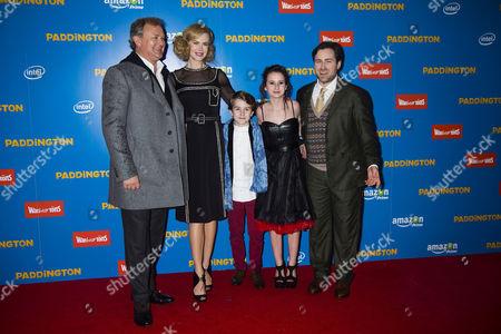 'Paddington' World Premiere at the Odeon Leicester Square Hugh Bonneville and Nicole Kidman with Madeleine Harris Samuel Joslin and Director Paul King