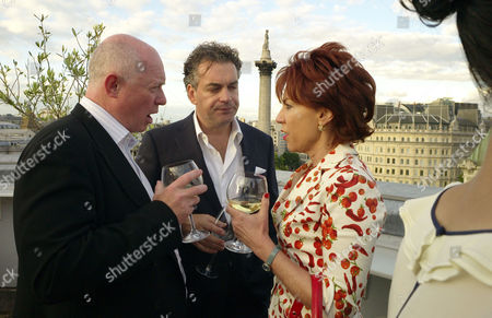 'Pop Babylon' Book Launch Party On the Roof of the Trafalgar Hotel at Trafalgar Square London Howell James Kenton Allen and Kathy Lette