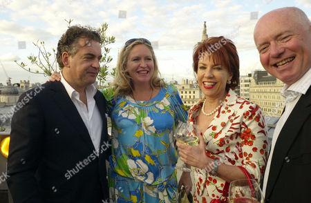 'Pop Babylon' Book Launch Party On the Roof of the Trafalgar Hotel at Trafalgar Square London Kenton Allen Imogen Edwards-jones Kathy Lette Howell James