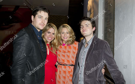 'Reasons to Be Pretty' Press Night at Almeida Islington Kieran Bew Billie Piper Sian Brooke and Tom Burke