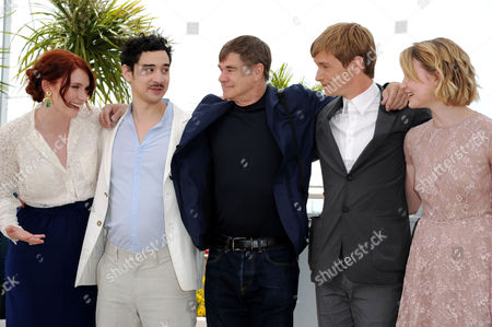 'Restless' Photocall at Festival De Palais During the 64th Cannes Film Festival Bryce Dallas Howard Jason Lew Director Gus Van Sant Henry Hopper and Mia Wasikowska