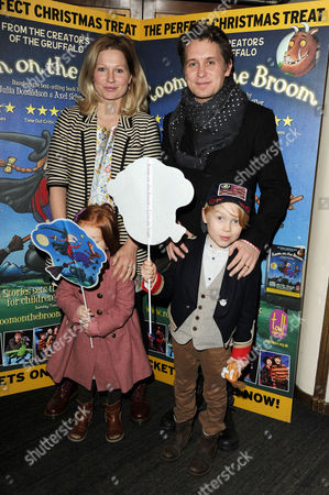 'Room On the Broom' Special Vip Performance at the Lyric Theatre Mark Owen with His Wife Emma Ferguson and Children Elwood and Willow