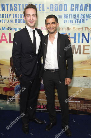 'Salmon Fishing in the Yemen' European Premiere at the Odeon Kensington High Street Tom Mison and Amr Waked
