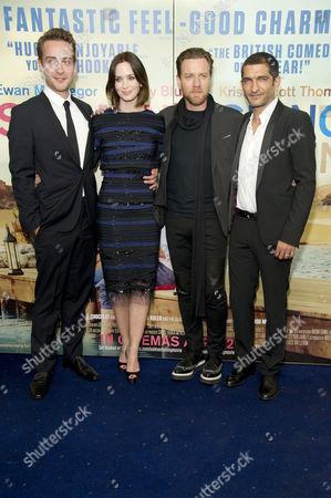 'Salmon Fishing in the Yemen' European Premiere at the Odeon Kensington High Street Tom Mison Emily Blunt Ewan Mcgregor and Amr Waked