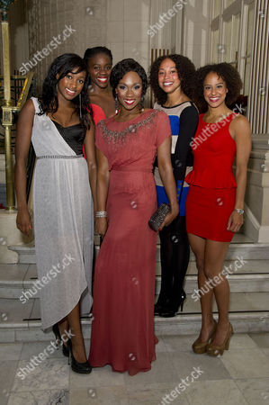 'Soul Sister' Press Night After Party at the Waldorf Hotel Emi Wokoma (tina Turner) with the Ikettes Rochelle Aisha Joanne and Hannah