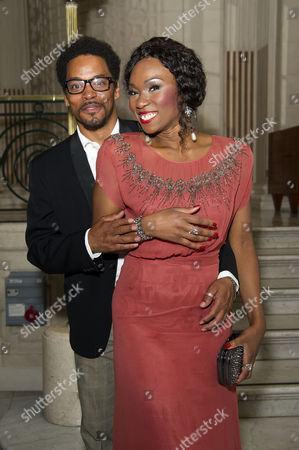 'Soul Sister' Press Night After Party at the Waldorf Hotel Emi Wokoma (tina Turner) and Chris Tummings (ike)