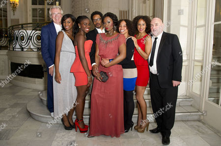 'Soul Sister' Press Night After Party at the Waldorf Hotel Emi Wokoma (tina Turner) and Chris Tummings (ike) with the Ikettes Rochelle Aisha Joanne and Hannah with John Miller and Bob Eaton
