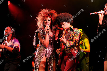 'Soul Sister' Press Night Curtain Call at the Savoy Theatre Emi Wokoma (tina Turner) and Chris Tummings (ike)