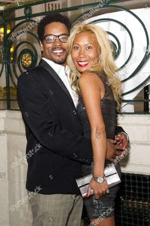 Stock Photo of 'Soul Sister' Press Night After Party at the Waldorf Hotel Chris Tummings (ike) with His Girlfriend 'H'