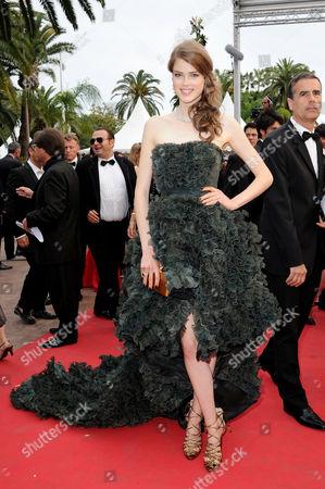 'The Conquest' Red Carpet at Palais Des Festivals During the 64th Cannes Film Festival Julia Saner