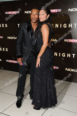 'The Dark Night Rises' European Premiere at the Odeon Leicester Square Ashley Walters with His Girlfriend Natalie Williams