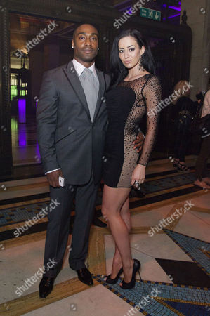 'The Dark Night Rises' European Premiere After Party at the Freemasons Hall Holborn Ashley Walters with His Girlfriend Natalie Williams