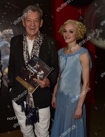 Stock Picture of Vip Gala Night For the Northern Ballets Rendition of 'The Great Gatsby' at Sadlers Wells Theatre Islington London Sir Ian Mckellen & Dancer Dreda Blow