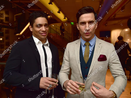 Vip Gala Night For the Northern Ballets Rendition of 'The Great Gatsby' at Sadlers Wells Theatre Islington London Russell Kane & Piers Linney