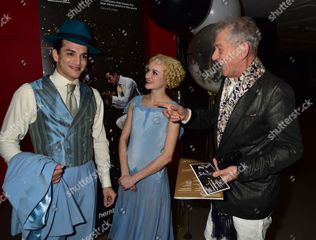 Vip Gala Night For the Northern Ballets Rendition of 'The Great Gatsby' at Sadlers Wells Theatre Islington London Dancers Javier Torres and Dreda Blow with Sir Ian Mckellen