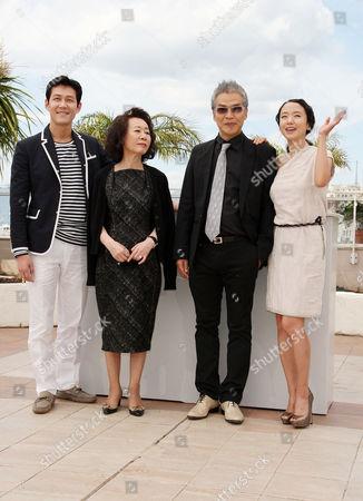 'The Housemaid' Photocall at the Festival De Palais During the 63rd Cannes Film Festival Jason Chae Youn Yuh-jung Im Sang-soo Jeon Do-youn