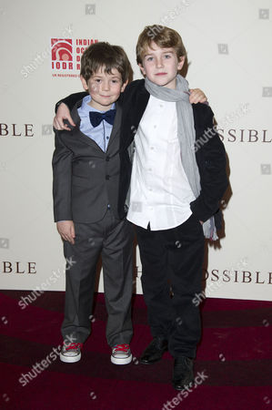 'The Impossible' Premiere at the Bfi Imax Waterloo Oaklee Pendergast and Samuel Joslin