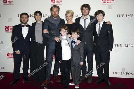 'The Impossible' Premiere at the Bfi Imax Waterloo Juan Antonio Bayona Maria Belon Ewan Mcgregor Naomi Watts Tom Holland Lucas Belon Samuel Joslin and Oaklee Pendergast