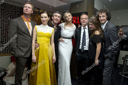 'The Look of Love' Uk Premiere at the Curzon Soho Matt Greenhalgh (writer) Anna Friel Steve Coogan Tamsin Egerton Michael Winterbottom (director) Melissa Parmenter (producer) and Chris Addison