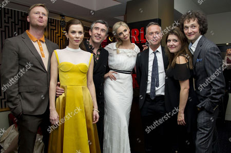 Stock Image of 'The Look of Love' Uk Premiere at the Curzon Soho Matt Greenhalgh (writer) Anna Friel Steve Coogan Tamsin Egerton Michael Winterbottom (director) Melissa Parmenter (producer) and Chris Addison