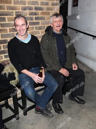 'The Master Builder' Press Night at the Almeida Theatre Islington Stephen Dillane and Jack Shepherd