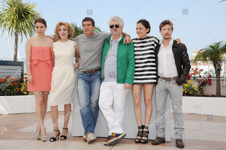 'The Skin I Live In' Photocall at the Palais Des Festivals During the 64th Cannes Film Festival Bianca Suarez Marisa Paredes Antonio Banderas with the Director Pedro Almodovar Elena Anaya and Ian Cornet