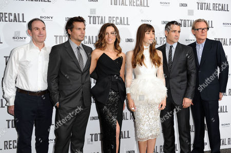 'Total Recall' Uk Premiere at the Vue Leicester Square Toby Jaffe Len Wiseman Kate Beckinsale Jessica Biel Colin Farrell and Bill Nighy