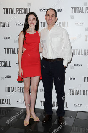 'Total Recall' Uk Premiere at the Vue Leicester Square Toby Jaffe with His Daughter Isabelle
