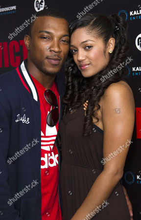 'Victim' Uk Premiere at the Apollo Cinema Regents Street Ashley Walters with His Girlfriend Natalie Williams
