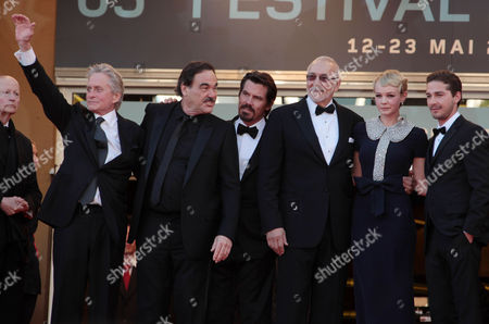 Stock Photo of 'Wall Street 2: Money Never Sleeps' Red Carpet Arrivals at the Festival De Palais During the 63rd Cannes Film Festival Cast - Michael Douglas Oliver Stone Josh Brolin Frank Langella Carey Mulligan and Shia Labeouf