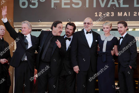 Stock Image of 'Wall Street 2: Money Never Sleeps' Red Carpet Arrivals at the Festival De Palais During the 63rd Cannes Film Festival Cast - Michael Douglas Oliver Stone Josh Brolin Frank Langella Carey Mulligan and Shia Labeouf