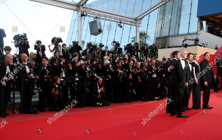 'Wall Street 2: Money Never Sleeps' Red Carpet Arrivals at the Festival De Palais During the 63rd Cannes Film Festival Cast - Michael Douglas Oliver Stone Josh Brolin Frank Langella Carey Mulligan and Shia Labeouf