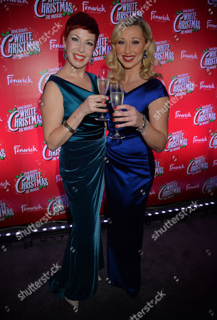 'White Christmas' Press Night and Afterparty at the Dominion Theatre and Bloomsbury Ball Room Louise Bowden and Rachel Stanley