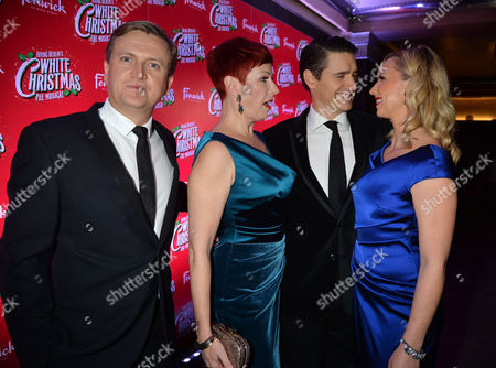 'White Christmas' Press Night and Afterparty at the Dominion Theatre and Bloomsbury Ball Room Tom Chambers and Aled Jones with Co-stars Louise Bowden and Rachel Stanley