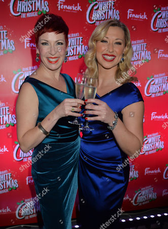 Stock Image of 'White Christmas' Press Night and Afterparty at the Dominion Theatre and Bloomsbury Ball Room Louise Bowden and Rachel Stanley