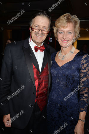 'White Christmas' Press Night and Afterparty at the Dominion Theatre and Bloomsbury Ball Room Tim Wonnacott with His Wife Helen