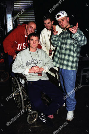 The 1995 Brit Awards East 17 (l-r): Tony Mortimer John Hendy Terry Coldwell and Brian Harvey