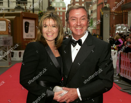 the British Academy of Film and Television Television Awards at the Grosvenor House Hotel Des O'connor with His FiancŽe Jodie Brooke Wilson