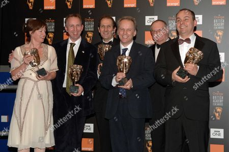 British Academy Film Awards at the Odeon Leicester Square - Press Room Best British Film to the Crew of 'Wallace and Gromit - the Cursse of the Were-rabbit' - Claire Jennings David Sproxton Nick Park Steve Box Mark Burton Bob Baxter