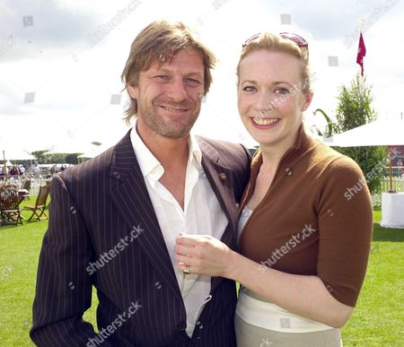 the Cartier International Polo at the Guards Club Smiths Lawn Windsor Sean Bean with Georgina Sutcliffe