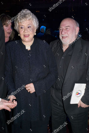 Olivier Awards and Afterparty at the Grosvenor House Hotel Park Lane Lady Joan Plowright (olivier) and Frank Dunlop