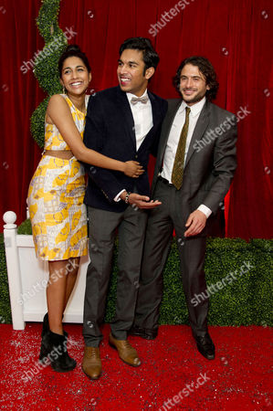Stock Picture of 2012 Soap Awards at Itv Studios Southbank Meryl Fernandes Himesh Patel and Marc Elliot