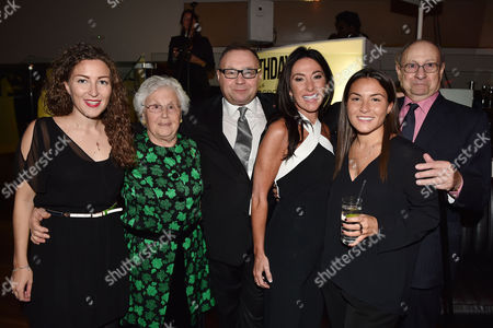 21st Anniversary Party For Roar at the Avenue St James Jonathan Shalit with His Wife Katrina Sedley Her Daughters Sofia and Jessica Lever and His Parents