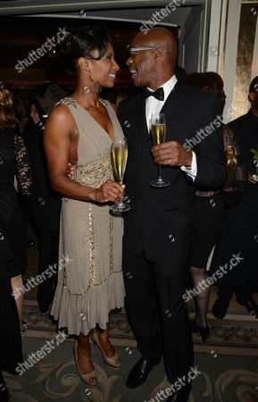 22nd Cartier Racing Awards at the Ballroom Dorchester Hotel Mayfair Denise Lewis and Ed Moses