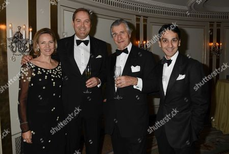 22nd Cartier Racing Awards at the Ballroom Dorchester Hotel Mayfair Carla Bamberger Harry Herbert Arnaud Bamberger and Francois Le Troquer