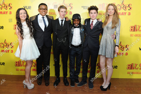 All Stars Film Premiere at the Vue Leicester Square Fleur Houdijk Gamal Toseafa Dominic Herman Day Akai Theo Stevenson and Amelia Clarkson