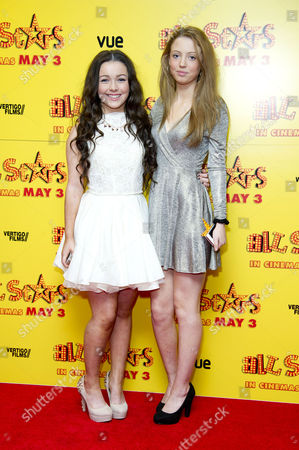 Stock Picture of All Stars Film Premiere at the Vue Leicester Square Fleur Houdijk and Amelia Clarkson
